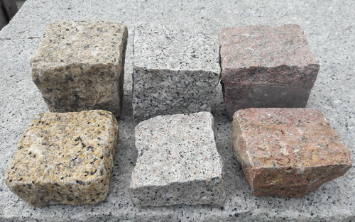 花崗岩石塊(手打面, 黃/粉/紅)